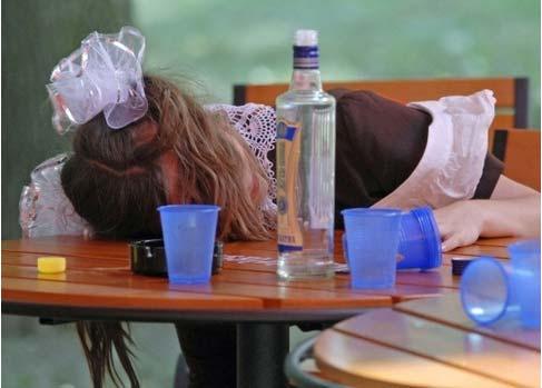 пьяная школьница